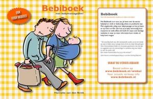 Bebiboek Hanneke van den Brink met flaptekst