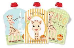 Sophie de Giraf knijpzakjes herbruikbaar navulbaar Squiz