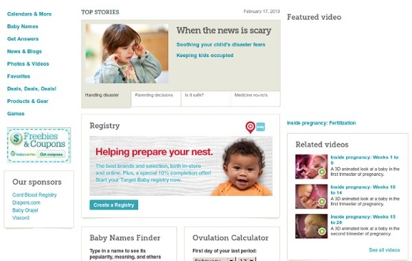 Babycentre – informatieve website