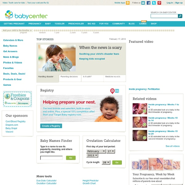 Homepage Babycentre