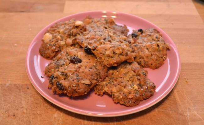 muesli koekjes homemade afgebakken kokos noten