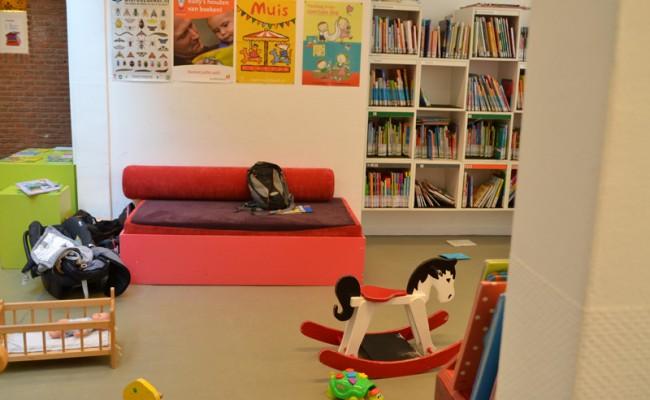 De bibliotheek Leiden kinderhoek