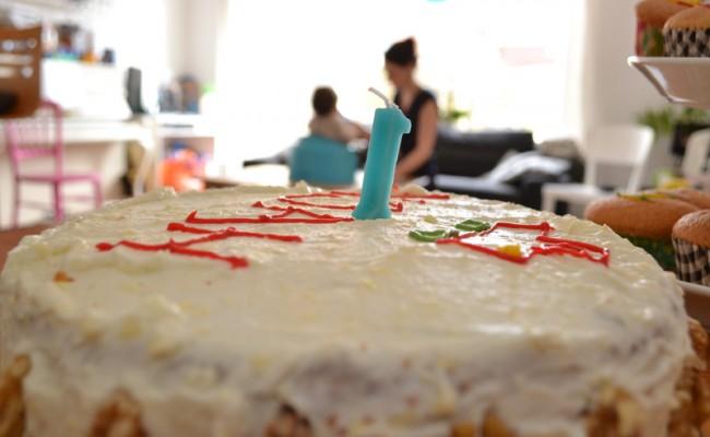 verjaardagstaart worteltjestaart feest 2