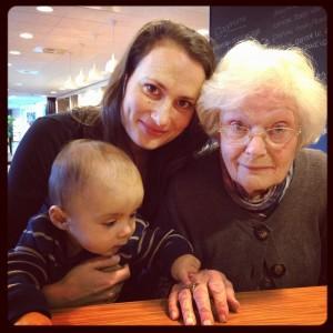 Op bezoek bij oma