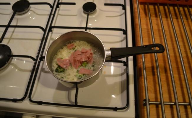 Broccoli ham rijst baby hapje