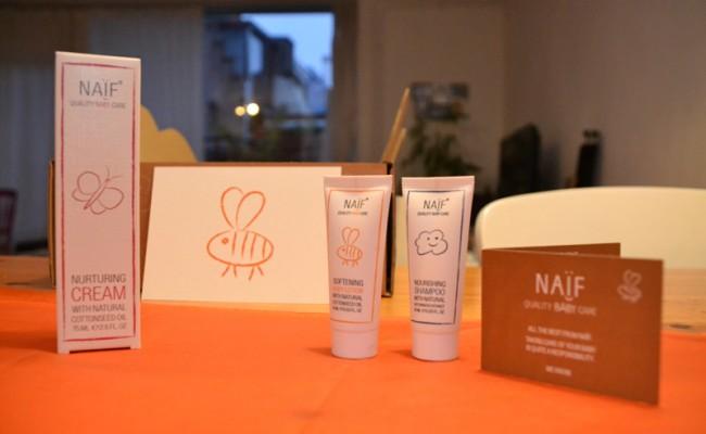 Naïf baby care test pakket bodylotion crème shampoo