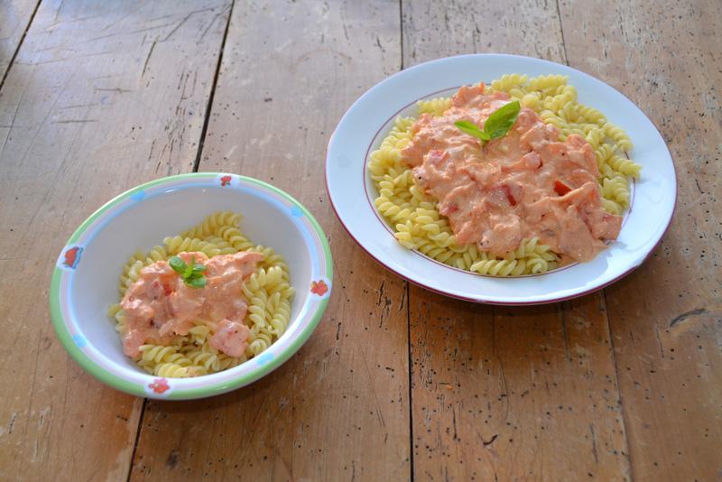 pasta met zalm recept
