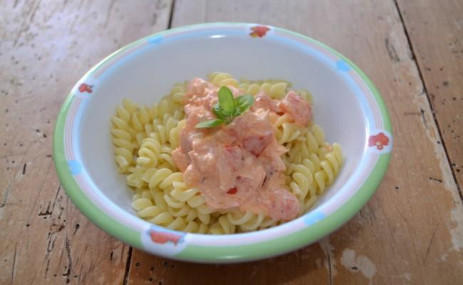 pasta met zalm recept babyvoeding babyhapje