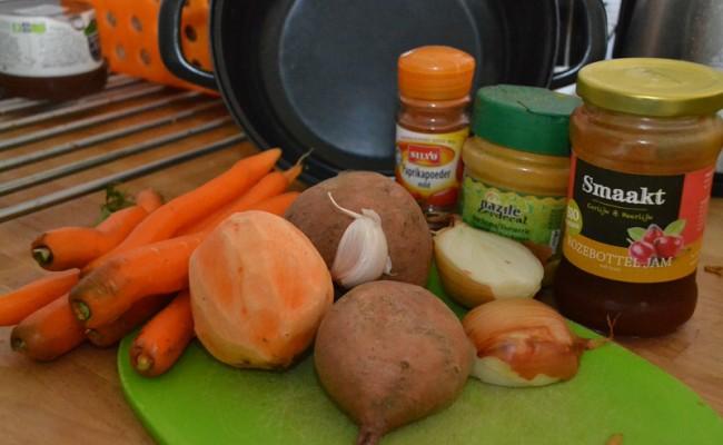 Ingrediënten Wortelsoep met zoete aardappel
