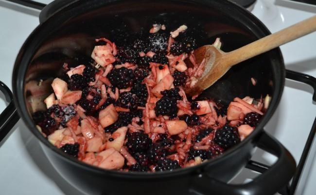 zelf bramenjam maken recept bramen appel zonder suiker