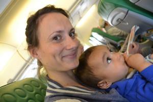 vliegen met kind dreumes baby tips