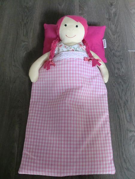 knuffel pop meisje roze mamaluv zelfgemaakt