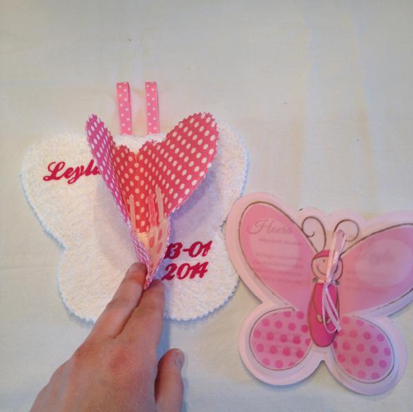 vlinder doek naam geboorte cadeau