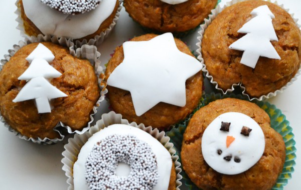 Feestelijke Kerstcupcakes