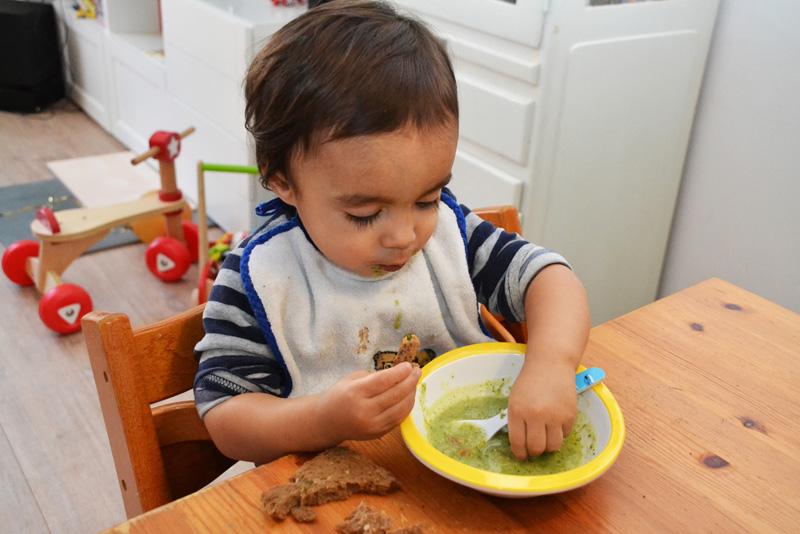 courgette courgettesoep soup recept broccolli groene paprika spekjes spek peuter kleuter