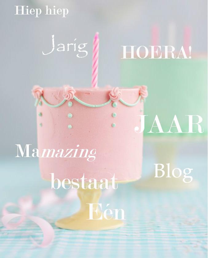 mamazing mamablog één ajar jarig feest taart
