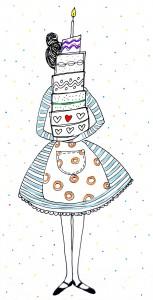 taart illustratie