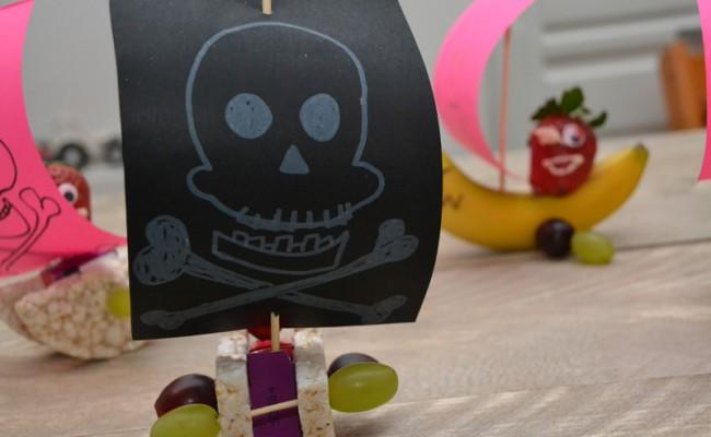 zelf maken piratenboot traktatie
