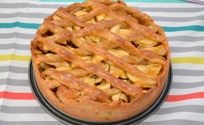 recept appeltaart met abrikozenjam en spijs
