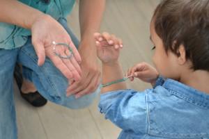 mama kind dezelfde armband turkooise