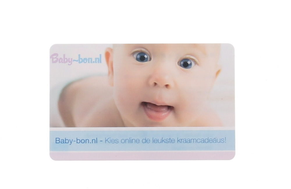 Baby-bon cadeaubon kraamcadeau blauw