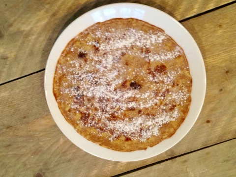 appel rozijn speltpannenkoek