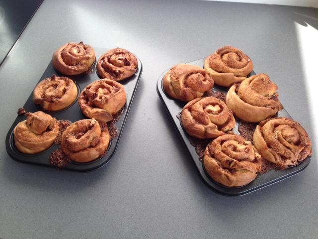 afgebakken cinnamonrolls