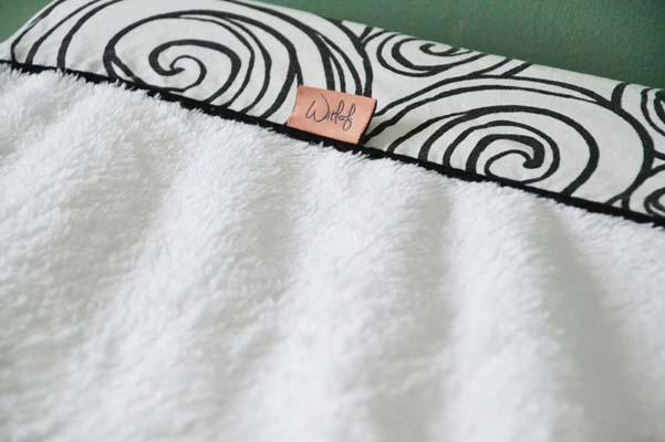 Label Witlof for Kids Tuck-Inn systeem teddy stof zacht moon zwart wit