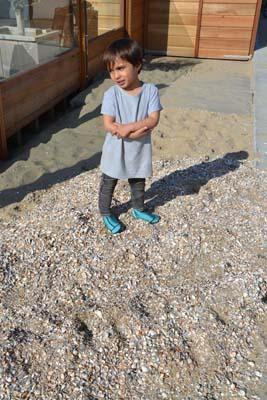 Duukies Beachsocks schelpen zand heet verbranden
