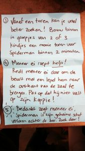 Spiderman speurtocht