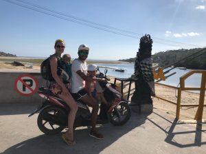 Scooter huren gezin golfkar Nusa Lembongan Nusa Ceningan