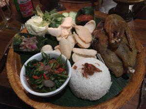 Cafe Wayan Ubud crispy duck eten